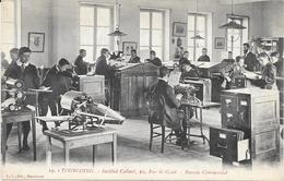 1267 TOURCOING : Ecole Bureau Commercial   A L'Institut Colbert 10 Rue De Gand,animée. édit L.S - Tourcoing
