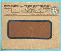 235 Op Brief COMITE NATIONAL DES TIMBRES ANTITUBERCULEUX Met Stempel BRUXELLES - Belgique