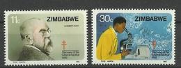 ZIMBABWE  1982 ROBERT KOCH,DISCOVERY OF TUBERCLE BACILLUS SET MNH - Zimbabwe (1980-...)