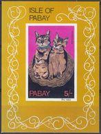 PABAY (Scozia) - 1969 - Foglietto Nuovo MNH Non Dentellato Riproducente Tre Gatti Abissini. - Emissions Locales