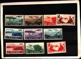 90174) ERITREA-Serie Pittorica - POSTA AEREA - 1936-MNH** SERIE COMPLETA - Erythrée