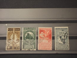ITALIA REGNO - 1911 UNITA'/ARTE 4 VALORI - TIMBRATI/USED - 1900-44 Victor Emmanuel III