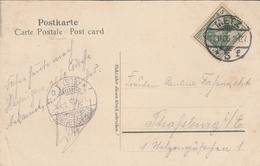 Cachet - METZ  Sur Timbre Deutsches Reich Et Cachet Strassburg  Sur CPA - METZ Esplanade Et Palais De Justice - Cachets Manuels