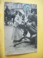 75 6369 CPA - 75 PARIS NOUVEAU. L'ACCIDENT. 1907 - FEMME COCHERE ET SON CHEVAL- ANIMATION - Métiers
