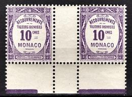 MONACO 1924 / 1932  N° 14 EN PAIRE NEUFS** - Taxe