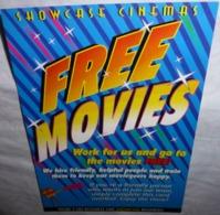 Carte Postale - Showcase Cinémas - Free Movies (caméra) - Advertising