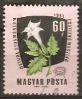 Hungary  1961 SG 1776 Medicinal Plants Thorn Apple Fine Used - Plantes Médicinales