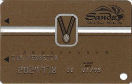 Sands Casino - Atlantic City, NJ - 9th Issue Slot Card With SC24 & Small Medal - Casino Cards