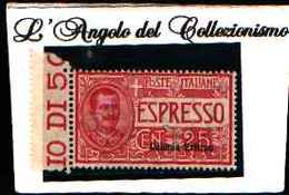 90176) ERITREA-Espressi Tipo Floreale- 1907-25 C. Effigie Di Vittorio Emanuele III E Ornamenti Floreali-MNH** - Erythrée