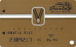 Sands Casino - Atlantic City, NJ - 9th Issue Slot Card With S5191 & Small Medal - Casino Cards