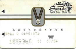 Sands Casino - Atlantic City, NJ - 9th Issue Slot Card With SC & Small Medal - Casino Cards