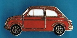 PIN'S //   ** FIAT 500 / ROUGE ** - Fiat