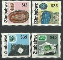 ZIMBABWE 2002 MINERALS SET MNH - Zimbabwe (1980-...)