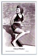 CHERYL WALKER - Film Star Pin Up PHOTO POSTCARD - A732-1 Swiftsure Postcard - Artistas