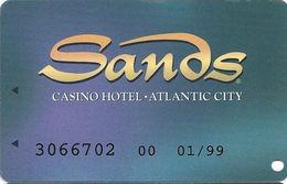 Sands Casino - Atlantic City, NJ - Temp Slot Card With No Player Name - Casino Cards