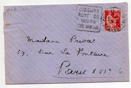 """1934-lettre De CIBOURE-64  Pour PARIS-75--Daguin"""" Port De Yachts-Côte Basque """"-Type Paix-- - Marcophilie (Lettres)"""