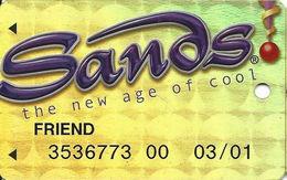 Sands Casino - Atlantic City, NJ - Temp Metallic Slot Card With FRIEND - Casino Cards