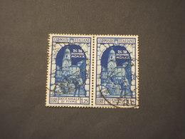 ITALIA REGNO - 1934 FIUME L. 1,25, Coppia- TIMBRATO/USED - 1900-44 Victor Emmanuel III