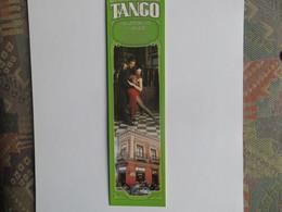 Marque Page Argentine Danseur De Tango Couple  Chanson La Cumparsita Si Supieras  Texte Au Recto La Bocca - Marque-Pages