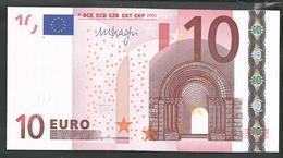 "Greece  ""Y"" 10  EURO GEM UNC! Draghi Signature!!  ""Y""   Printer  N037C4 ! - EURO"