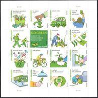 VERINIGTE STAATEN ETATS UNIS USA 2011 M/S GO GREEN SC 4524SP MI B4681-96 YV F4341-56 SG MS5118A-P - Feuilles Complètes