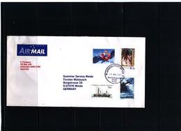 Australian Antarctic Territory 2002 Interesting Airmail Letter With Mixed Postage AAT+ Australia + Christmas Island - Territoire Antarctique Australien (AAT)