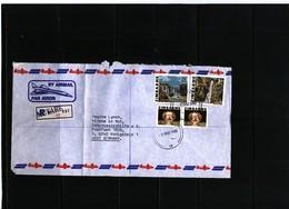 Zimbabwe 1985 Interesting Airmail Registered Letter - Zimbabwe (1980-...)
