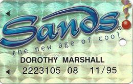 Sands Casino - Atlantic City, NJ - Metallic Silver Slot Card - Casino Cards
