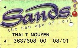 Sands Casino - Atlantic City, NJ - Metallic Gold Slot Card With WHITE Reverse - Casino Cards