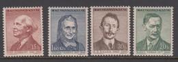 Czechoslovakia SG 956-959 1957 Writers 2nd Issue, Mint Never Hinged - Czechoslovakia