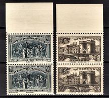 FRANCE 1939 - 2 PAIRES / Y.T. N° 444 ET 445 - NEUFS** - France
