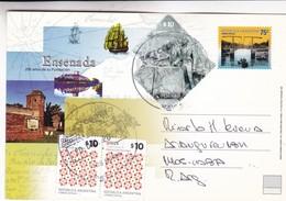 ENSENADA, 200 AÑOS DE SU FUNDACION. CIRCULEE NUEVE DE JULIO 2011 A CABA. STAMP A PAIR - BLEUP - Entiers Postaux