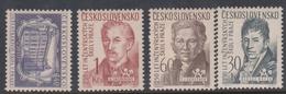 Czechoslovakia SG 983-986 1957 250th Anniversaries Of Polytechnic School, Mint Hinged - Czechoslovakia