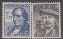 Czechoslovakia SG 991-992 1957 Inventors, Mint Never Hinged - Czechoslovakia