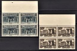 FRANCE 1939 - 2 BLOCS DE 4 TP  / Y.T. N° 444 ET 445 - NEUFS** - France