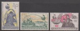 Czechoslovakia SG 1022-1024 1958 10th Anniversary Of Communist Government, Mint Never Hinged - Czechoslovakia