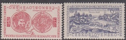 Czechoslovakia SG 1031-1032 1958 Exhibition Of Archive Documents, Mint Never Hinged - Czechoslovakia