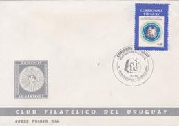 FDC- ASOCIACION NACIONAL DE REMATADORES Y CORREDORES 1886. CORREOS URUGUAY  - BLEUP - Uruguay