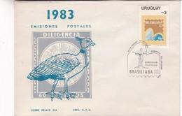 FDC- BRASILIANA'83, EXPOSICION FILATELICA. 1983. CORREOS URUGUAY - BLEUP - Uruguay