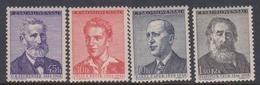 Czechoslovakia SG 1050-1053 1958 Writers Anniversaries, Mint Never Hinged - Czechoslovakia
