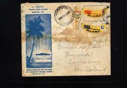 Tonga 1971 Interesting Tin Can Mail Letter - Tonga (1970-...)