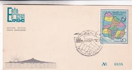 VUELO AMISTAD FILATELICA MUNDIAL MONTEVIDEO~FRANKFURT LUFTHANSA 1975. SPECIAL COVER, URUGUAY - BLEUP - Uruguay