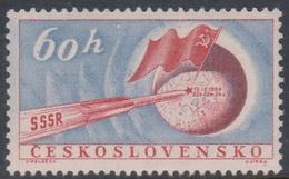 Czechoslovakia SG 1111 1959 Landing Of Russian Rocket On The Moon, Mint Never Hinged - Czechoslovakia