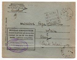 """1937-lettre De ALBERT-80 Pour VIMY-62 -Daguin""""Les Champs De Bataille De La Somme""""-Franchise-Impôts - Postmark Collection (Covers)"""