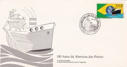 FDC-180 ANOS DA ABERTURA DOS PORTOS. RIO DE JANEIRO 1980 - BLEUP - FDC