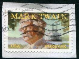 VERINIGTE STAATEN ETATS UNIS USA 2011 MARK TWAIN F USED ON PAPER SC 4545 MI 4719 YV 4379 SG 5141 - Etats-Unis