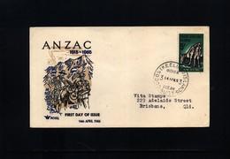 Cocos (Keeling) Islands 1965 ANZAC FDC - Kokosinseln (Keeling Islands)