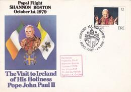 PAPAL FLIGHT SHANNON BOSTON 1979 VISIT TO IRELAND OF HIS HOLINESS POPE JOHN PAUL II. FLIGHT EL-1. EIRE - BLEUP - Popes