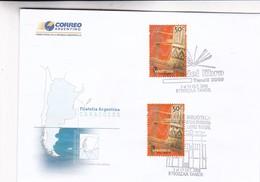 OBLITEREE FERIA DEL LIBRO TANDIL 2008, 100 AÑOS BIBLIOTECA B.RIVADAVIA-FILATELIA ARGENTINA, CARACOLES. FDC - BLEUP - FDC