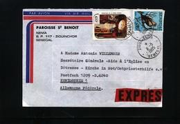 Senegal 1985 Interesting Airmail Letter - Senegal (1960-...)